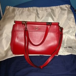 Like new Red Leather Coach purse